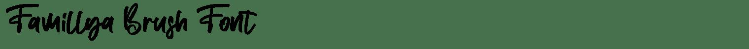 Famillya Brush Font