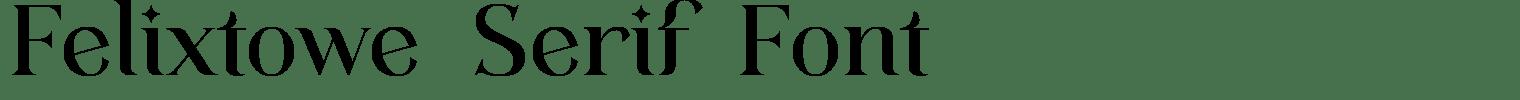 Felixtowe Serif Font