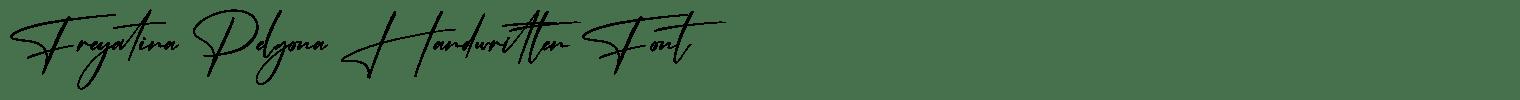 Freyatina Pelgona Handwritten Font