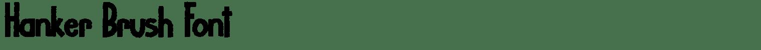 Hanker Brush Font