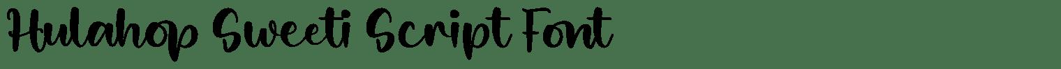 Hulahop Sweeti Script Font