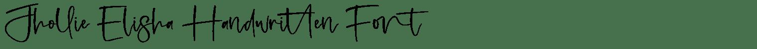 Jhollie Elisha Handwritten Font