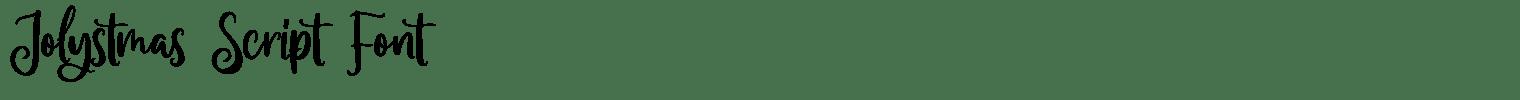 Jolystmas Script Font