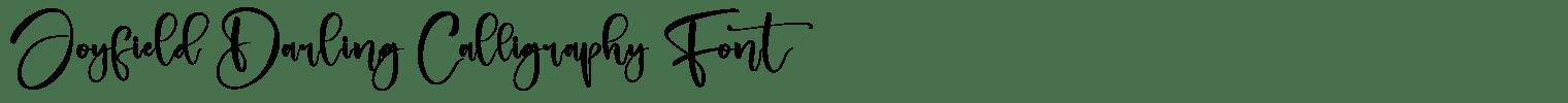 Joyfield Darling Calligraphy Font