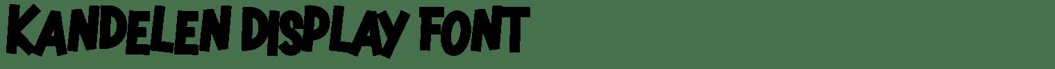 Kandelen Display Font