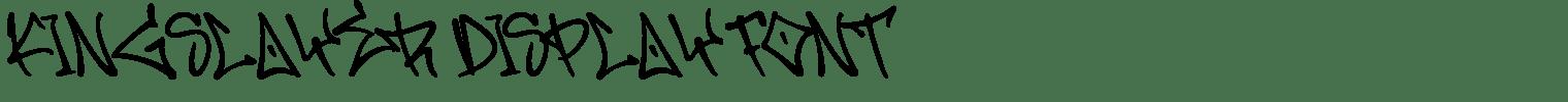 Kingslayer Display Font
