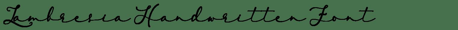 Lambresia Handwritten Font
