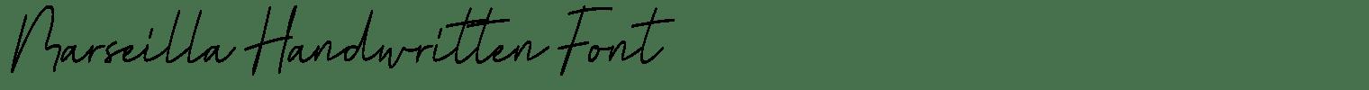 Marseilla Handwritten Font