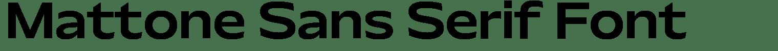 Mattone Sans Serif Font