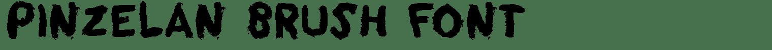 Pinzelan Brush Font