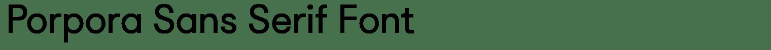 Porpora Sans Serif Font