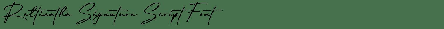 Reltinatha Signature Script Font