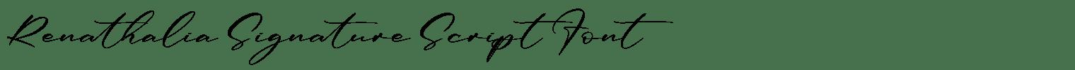 Renathalia Signature Script Font