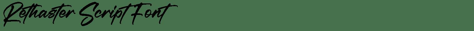 Rethaster Script Font