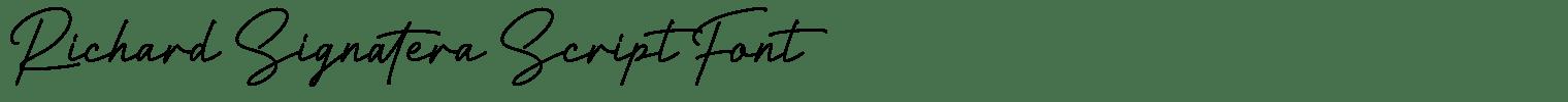Richard Signatera Script Font