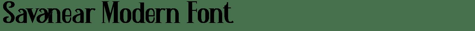 Savanear Modern Font
