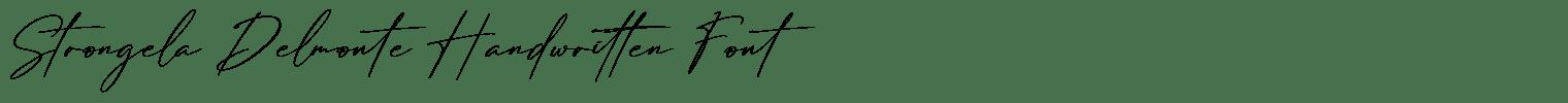 Strongela Delmonte Handwritten Font