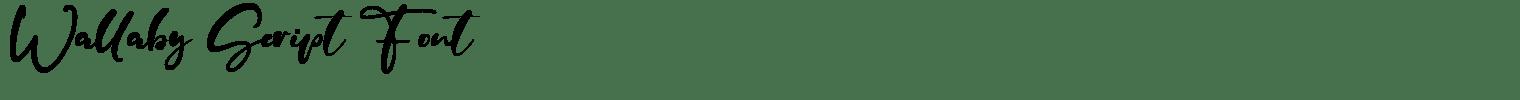 Wallaby Script Font