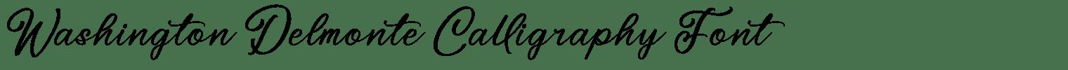 Washington Delmonte Calligraphy Font