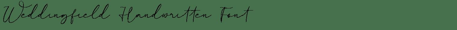 Weddingfield Handwritten Font