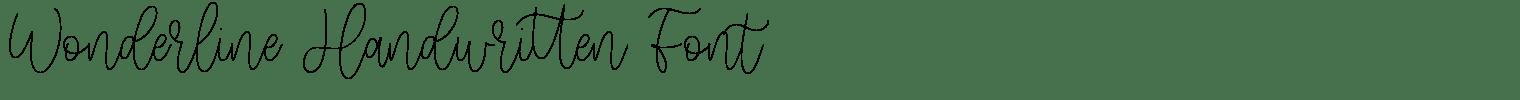 Wonderline Handwritten Font