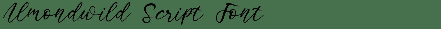 Almondwild Script Font