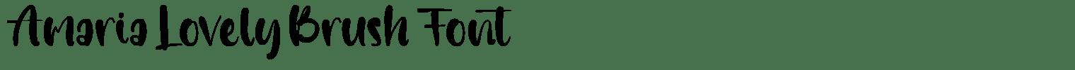 Amaria Lovely Brush Font