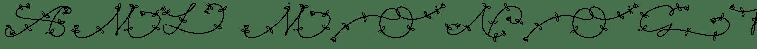 AML Monogram Decorative Font