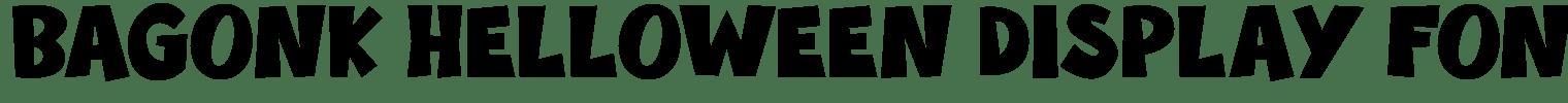Bagonk Helloween Display Font