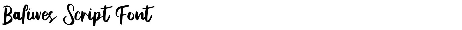 Baliwes Script Font