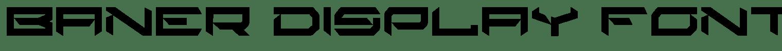 Baner Display Font