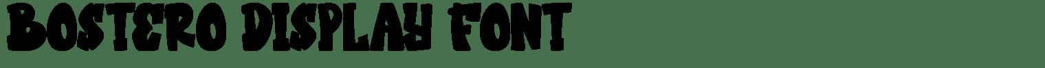 Bostero Display Font