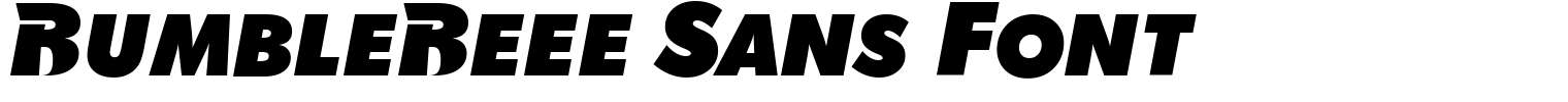 BumbleBeee Sans Font