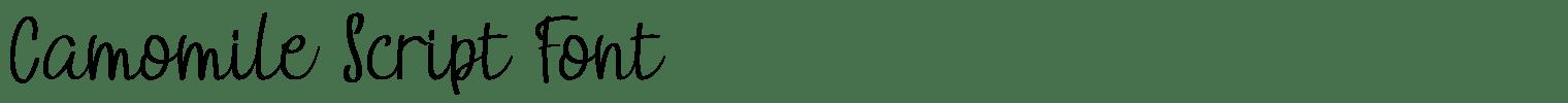 Camomile Script Font