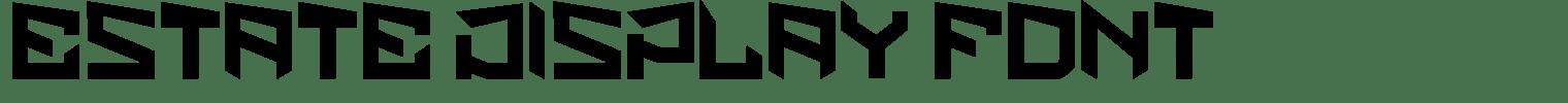 Estate Display Font