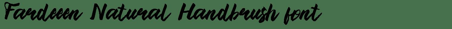 Fardeeen Natural Handbrush font