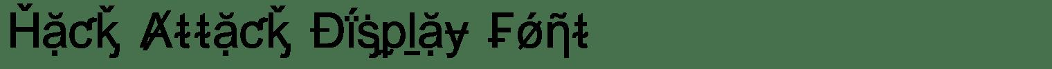 Hack Attack Display Font