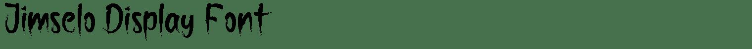 Jimselo Display Font