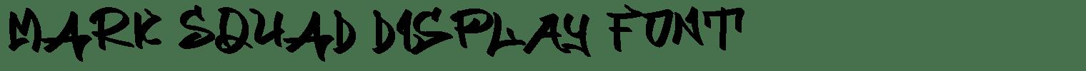 MARK SQUAD Display Font