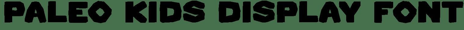 Paleo Kids Display Font