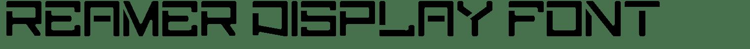 Reamer Display Font