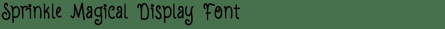 Sprinkle Magical Display Font