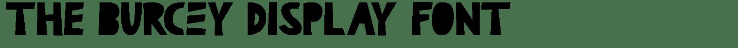 The Burcey Display Font