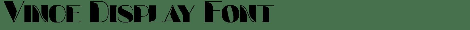 Vince Display Font