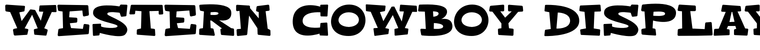 Western Cowboy Display Font