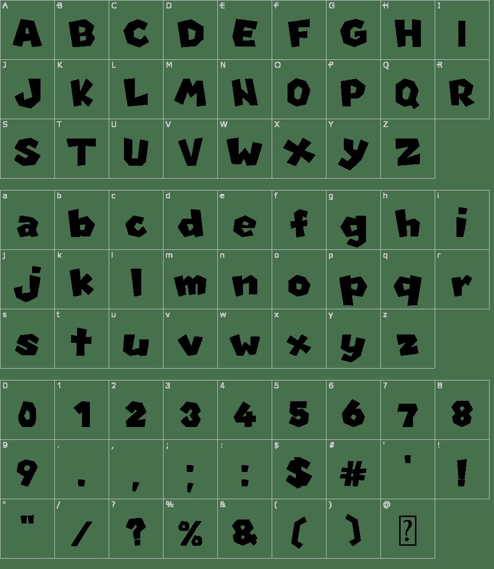 New Super Mario Font U Font Download
