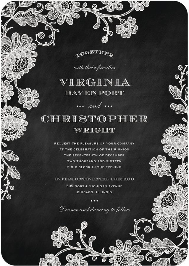 chalked affair wedding invitation