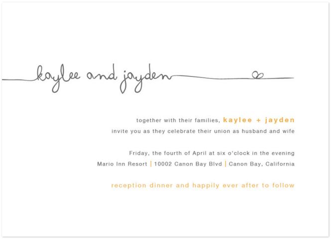 Flowing Script Wedding Invitations