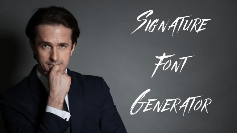 Signature Font Generator