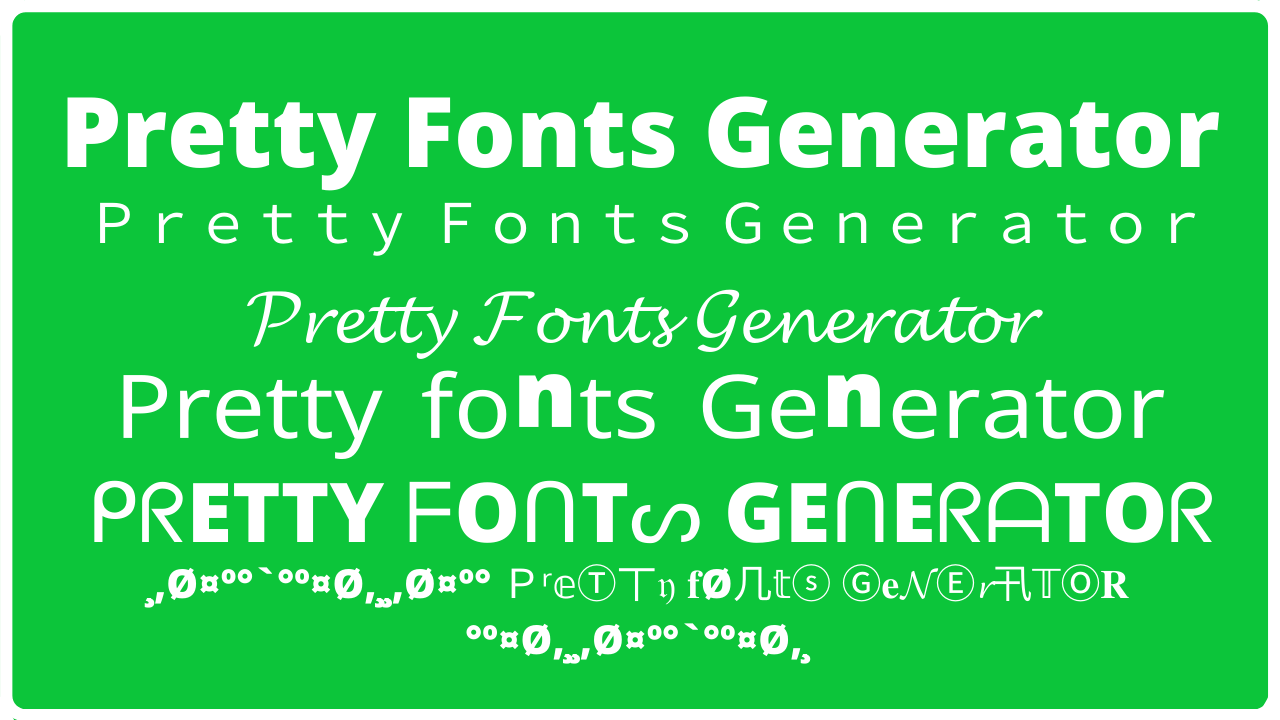 Read more about the article Pretty Font Generator